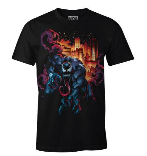 Venom T-Shirt Venom City Fire Size L