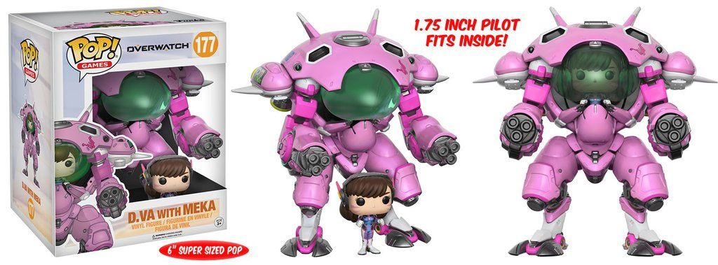 Overwatch Super Sized POP! Games Vinyl Figure D.VA & Meka 15 cm