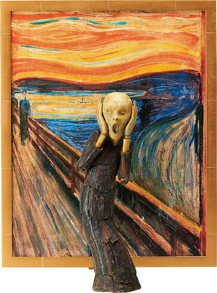 The Table Museum Figma Action Figure The Scream 14 cm