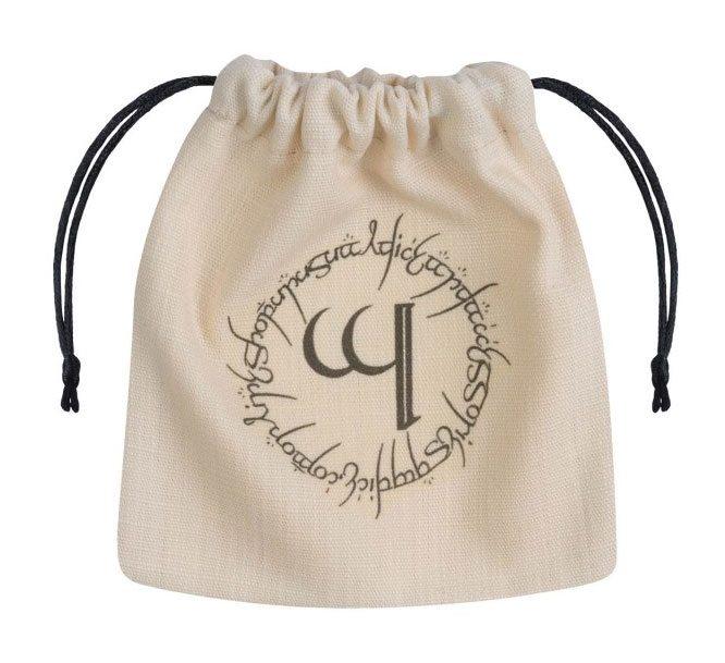 Elvish Dice Bag beige & black