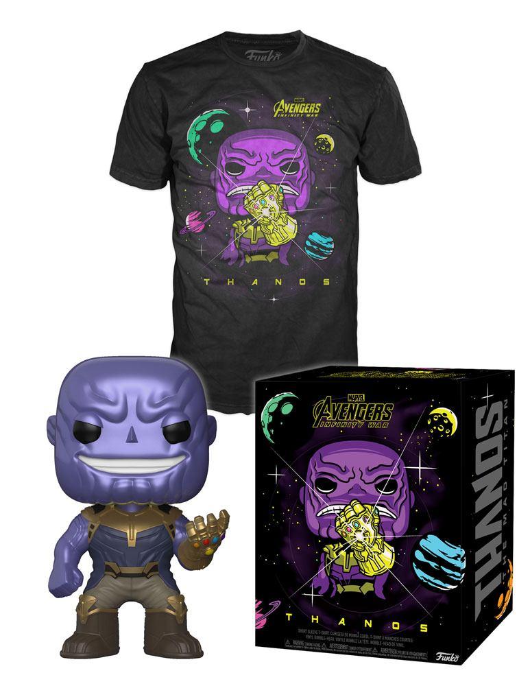 Avengers Infinity War POP! & Tee Box Thanos Size L