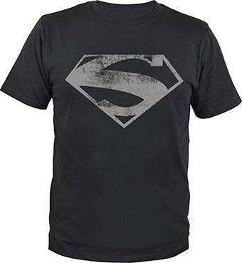 Superman T-Shirt Man of Steel Logo Size L