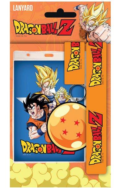 Dragonball Z Lanyard with Rubber Keychain Goku