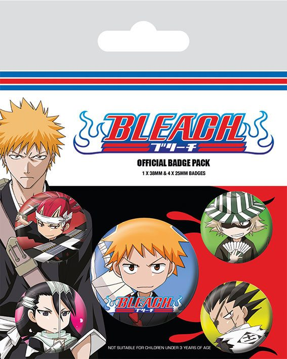 Bleach Pin Badges 5-Pack Chibi Characters