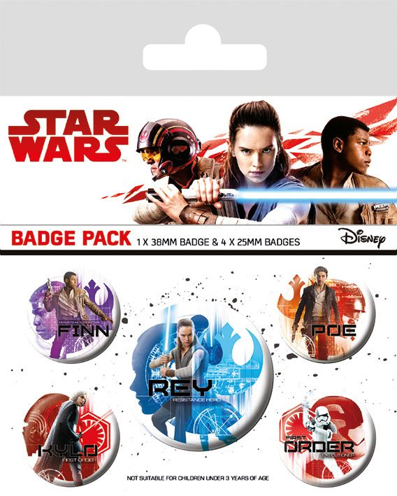 Star Wars Episode VIII Pin Badges 5-Pack Icons