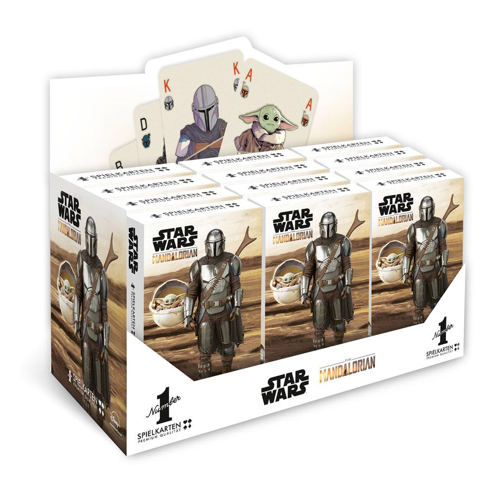 Winning Moves Star Wars The Mandalorian Number 1 Playing Cards Display (12) *German Version*