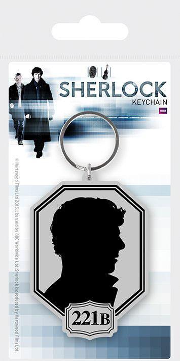 Sherlock Rubber Keychain Silhouette 6 cm