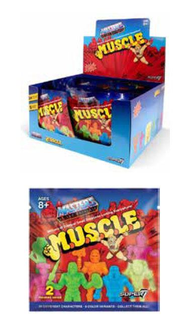 Masters of the Universe MUSCLE Figures Blind Bags 4 cm Display (36)
