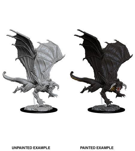 D&D Nolzur's Marvelous Miniatures Unpainted Miniature Young Black Dragon Case (6)