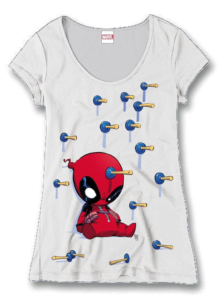 Deadpool Ladies T-Shirt Plunger Size S