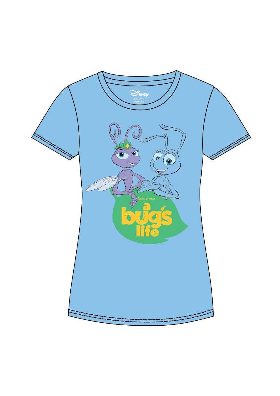 A Bug's Life Ladies T-Shirt Logo & Characters Size S