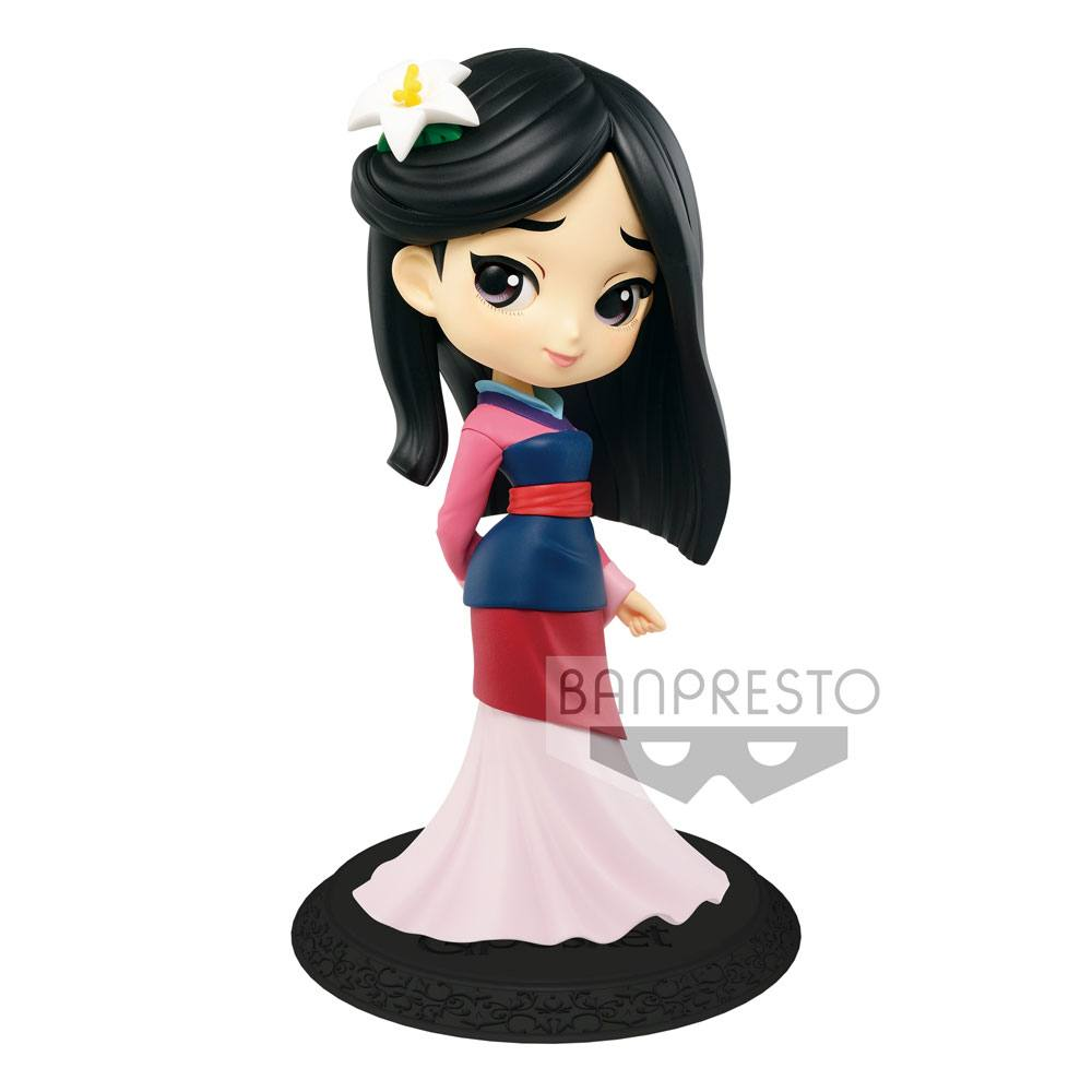Disney Q Posket Mini Figure Mulan A Normal Color Version 14 cm