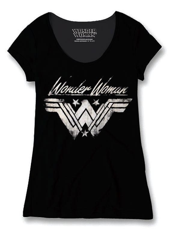 Wonder Woman Ladies T-Shirt Grunge Size XL