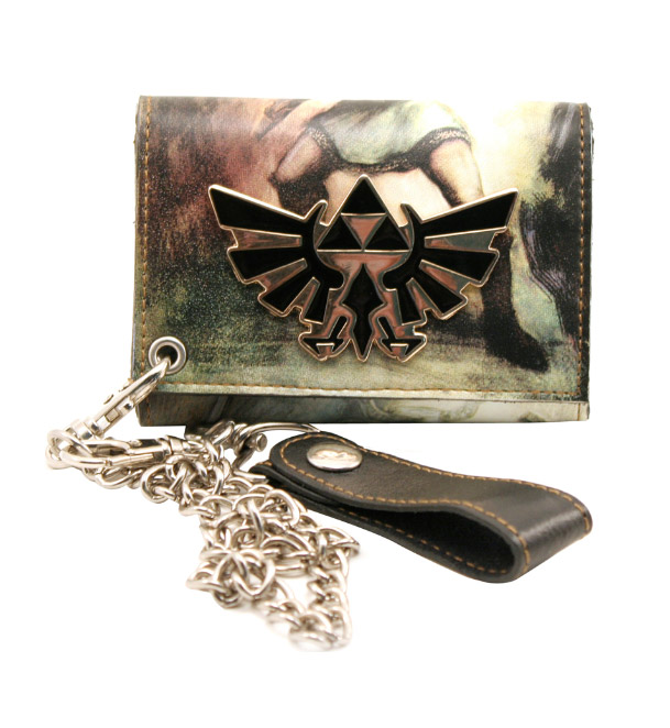 Zelda All Over Printed Trifold Chain Wallet