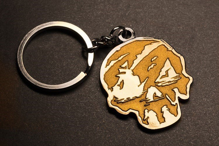 Sea of Thieves Metal Keychain Skull 6 cm
