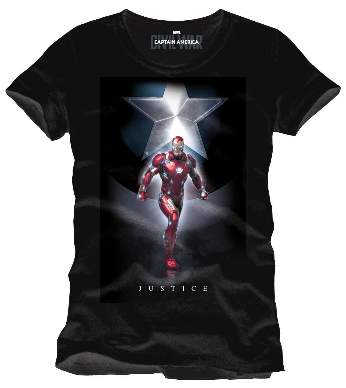 Captain America Civil War T-Shirt Justice Size M