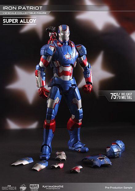 Iron Man 3 Super Alloy Action Figure 1/12 Iron Patriot 15 cm
