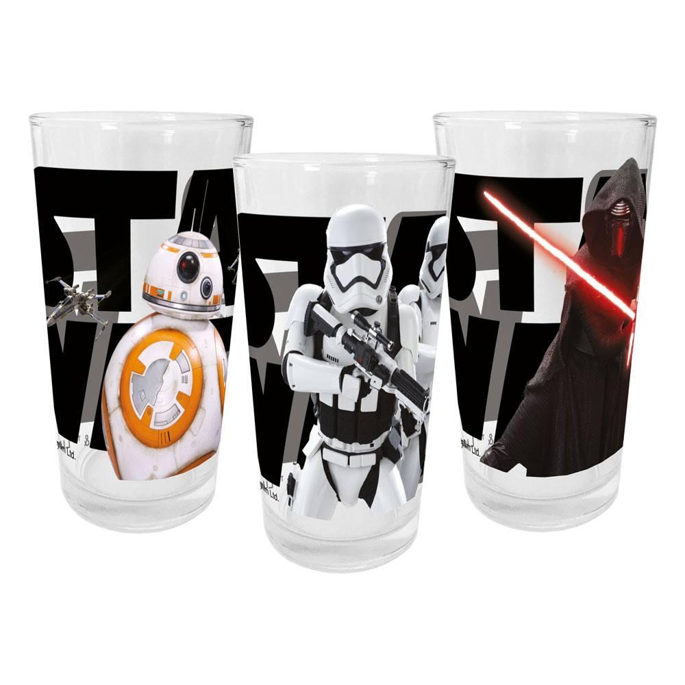 Star Wars VII Juice Glasses 3-Packs Episode VII Case (12)