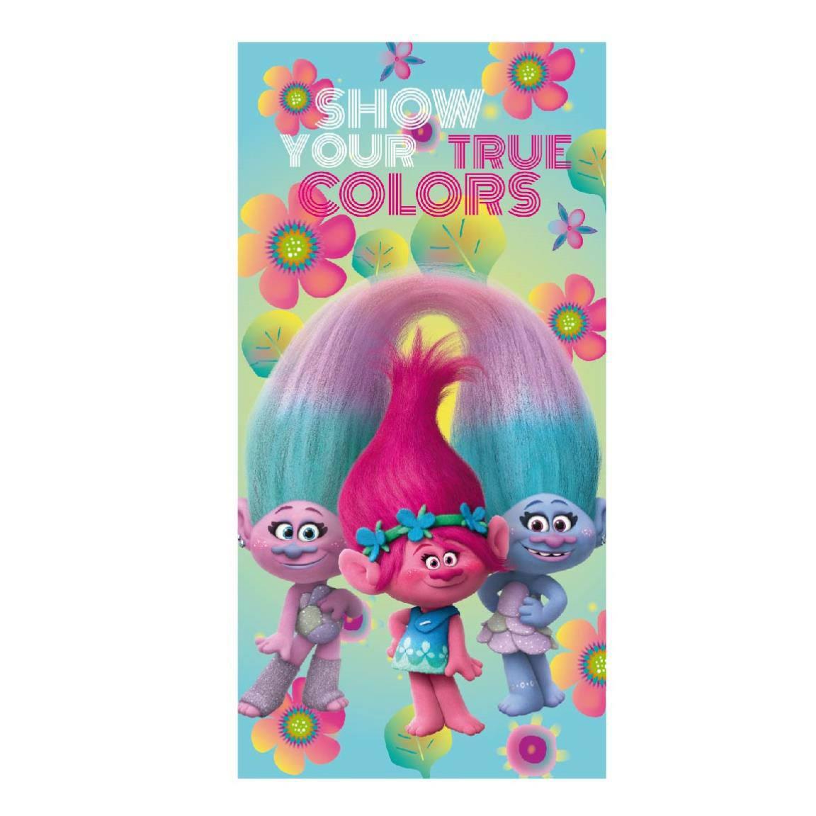 Trolls Towel Colors 140 x 70 cm