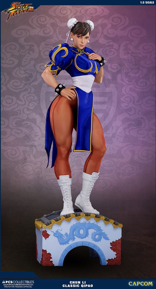 Street Fighter Statue 1/3 Chun Li Classic Qipao Exclusive 73 cm
