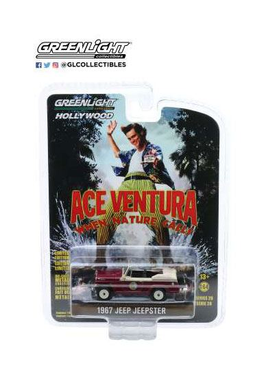 Ace Ventura Diecast Model 1/64 1967 Jeep Jeepster Convertible