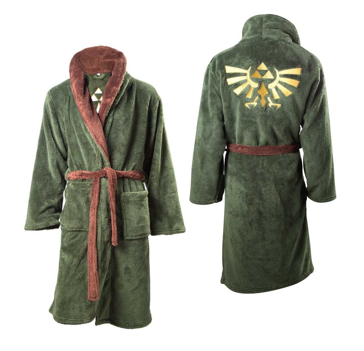 The Legend of Zelda Fleece Bathrobe Logo Size XS-S-M