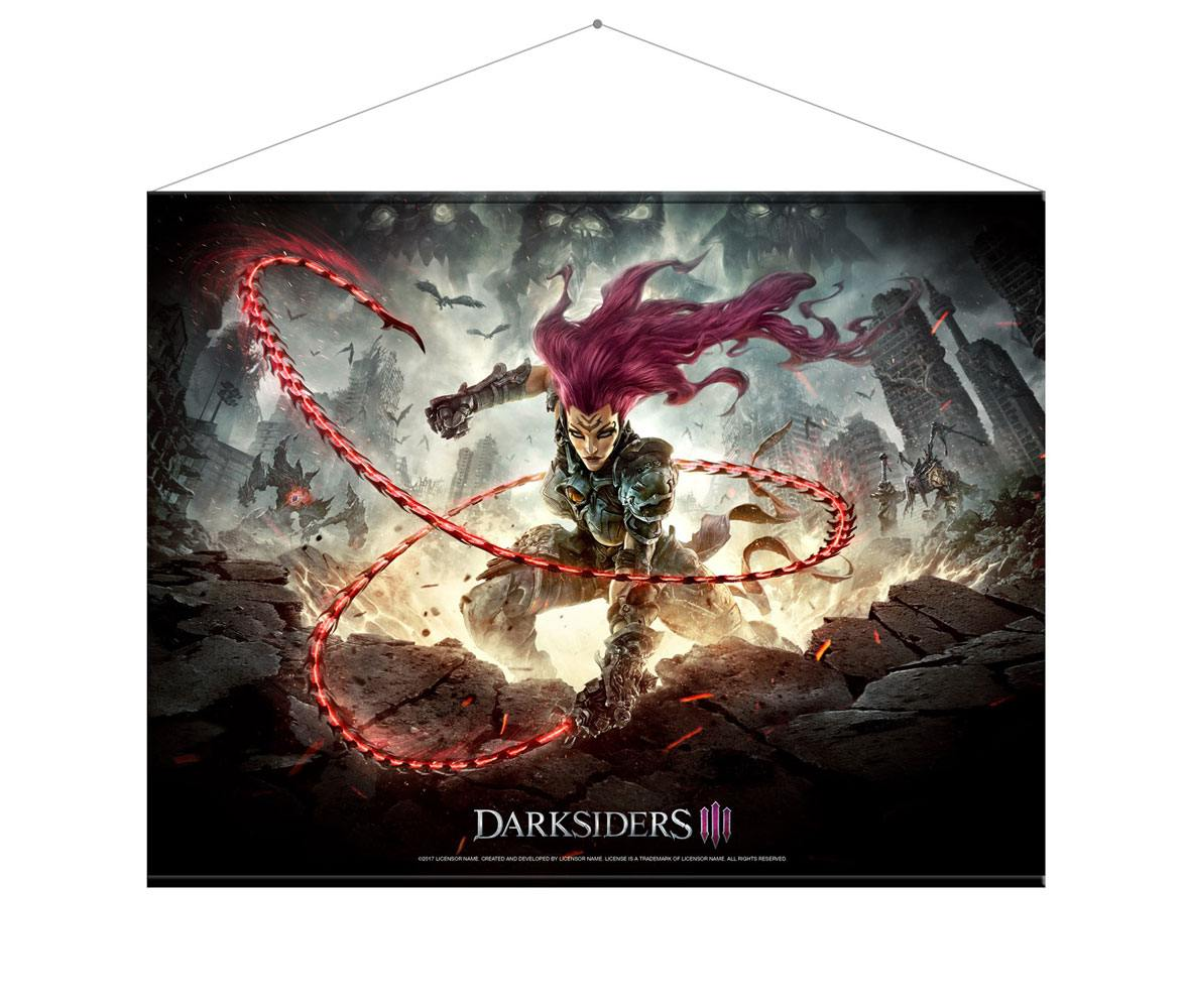 Darksiders III Wallscroll Keyart 100 x 77 cm
