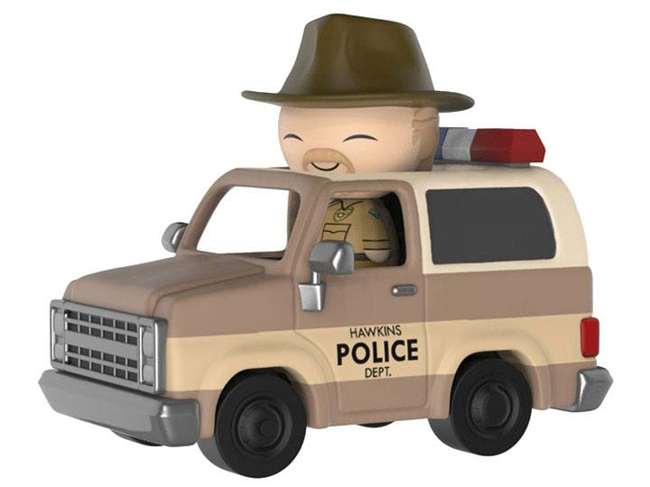 Stranger Things Dorbz Ridez Vinyl Vehicle with Dorbz Figure Hopper & Sheriff Deputy Truck 24 cm
