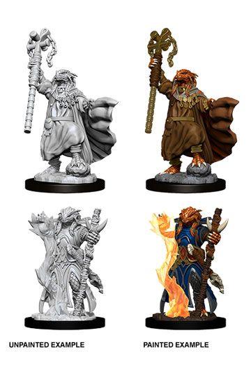 D&D Nolzur's Marvelous Miniatures Unpainted Miniatures Female Dragonborn Sorcerer Case (6)