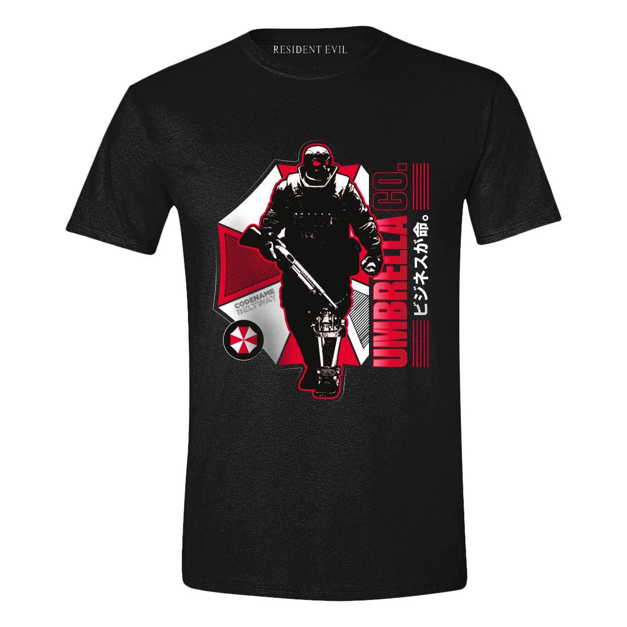 Resident Evil T-Shirt Japanese Umbrella Size S