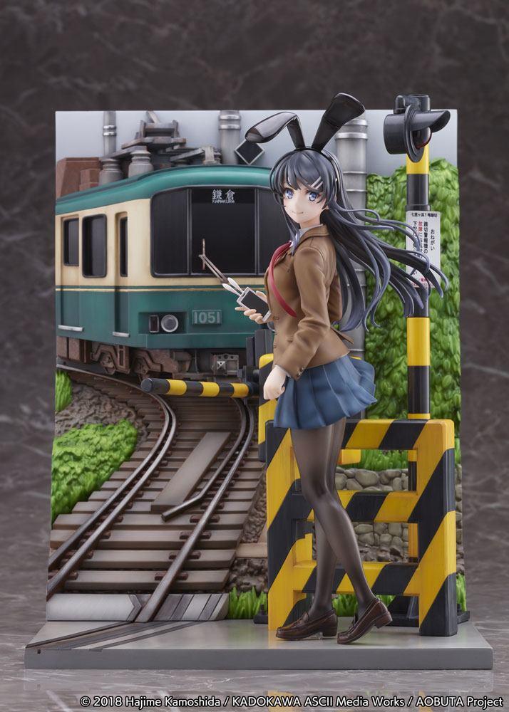 Rascal Does Not Dream of Bunny Girl Senpai PVC Statue Mai Sakurajima Enoden Ver. 29 cm