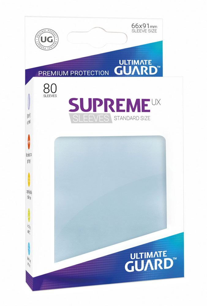 Ultimate Guard Supreme UX Sleeves Standard Size Transparent (80)