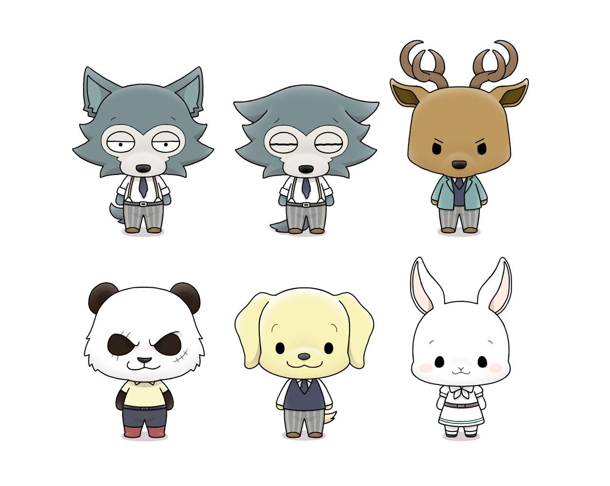 Beastars Chokorin Mascot Series Trading Figure 5 cm Assortment (6)