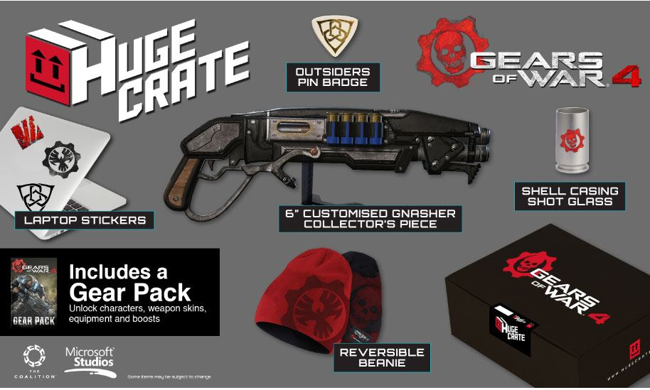 Gears of War 4 Huge Crate Fan Box