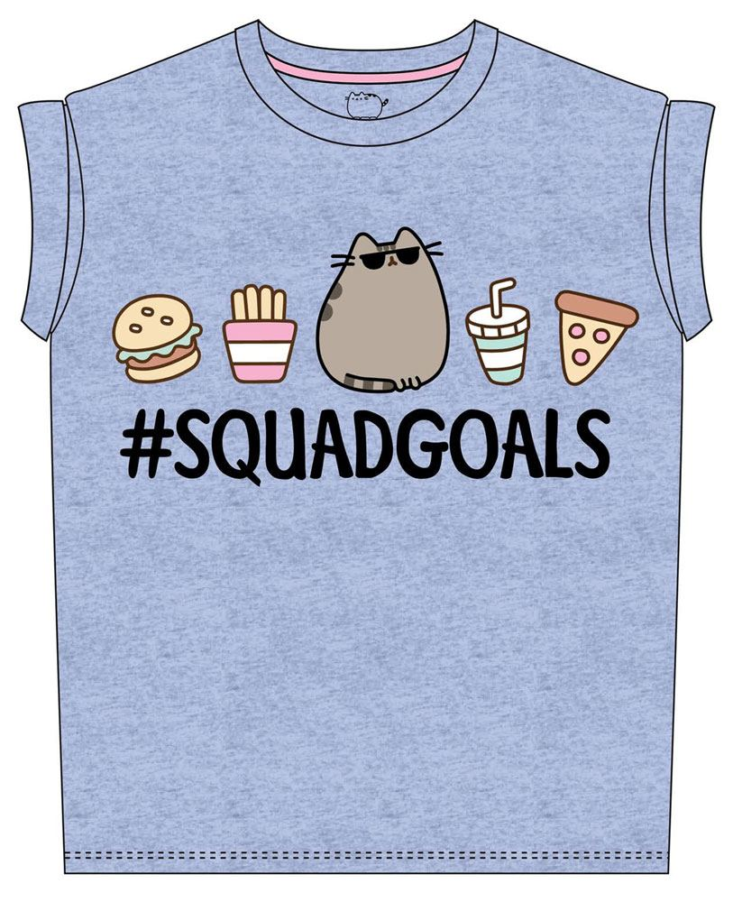 Pusheen Ladies T-Shirt Squad Goals Size S