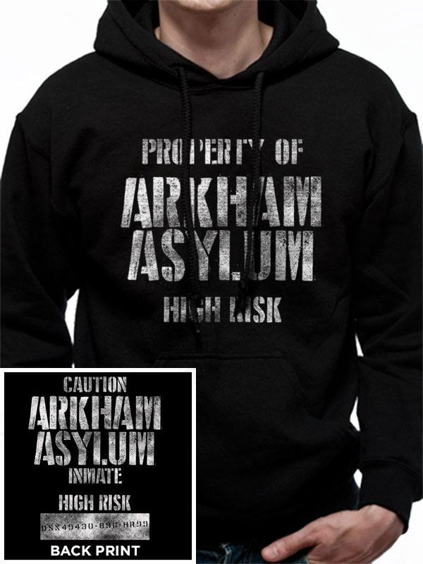 Batman Hooded Sweater Arkham Asylum Size M