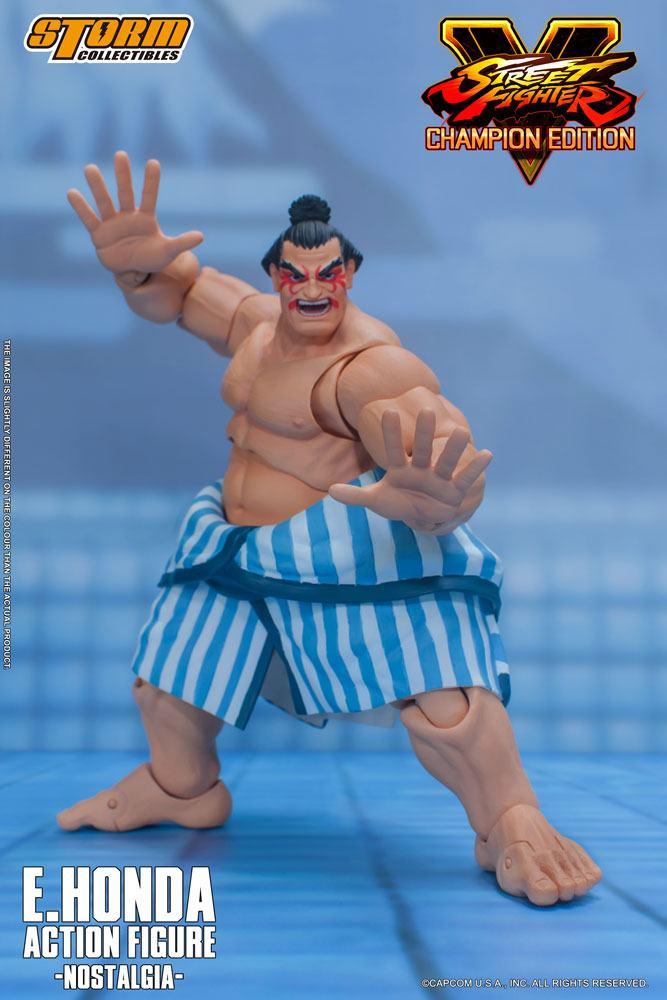 Street Fighter V Champion Edition Action Figure 1/12 E. Honda Nostalgia Costume 18 cm