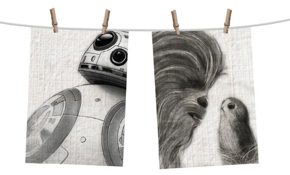 Star Wars Episode VIII Tea Towel 2-Set Sketch