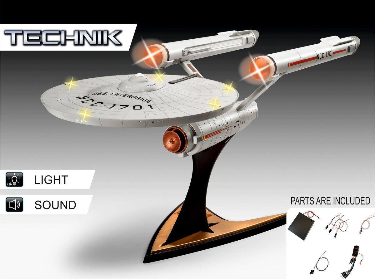 Star Trek Level 5 Model Kit with Sound & Light Up 1/600 USS Enterprise NCC-1701