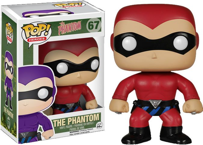 The Phantom POP! Heroes Vinyl Figure The Phantom Red Costume 10 cm