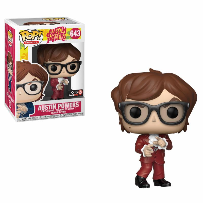 Austin Powers POP! Movies Vinyl Figure Austin Powers Red Suit GameStop Exclusive 9 cm
