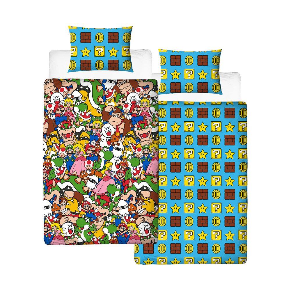 Super Mario Duvet Set Reversible Gang 135 x 200 cm / 48 x 74 cm