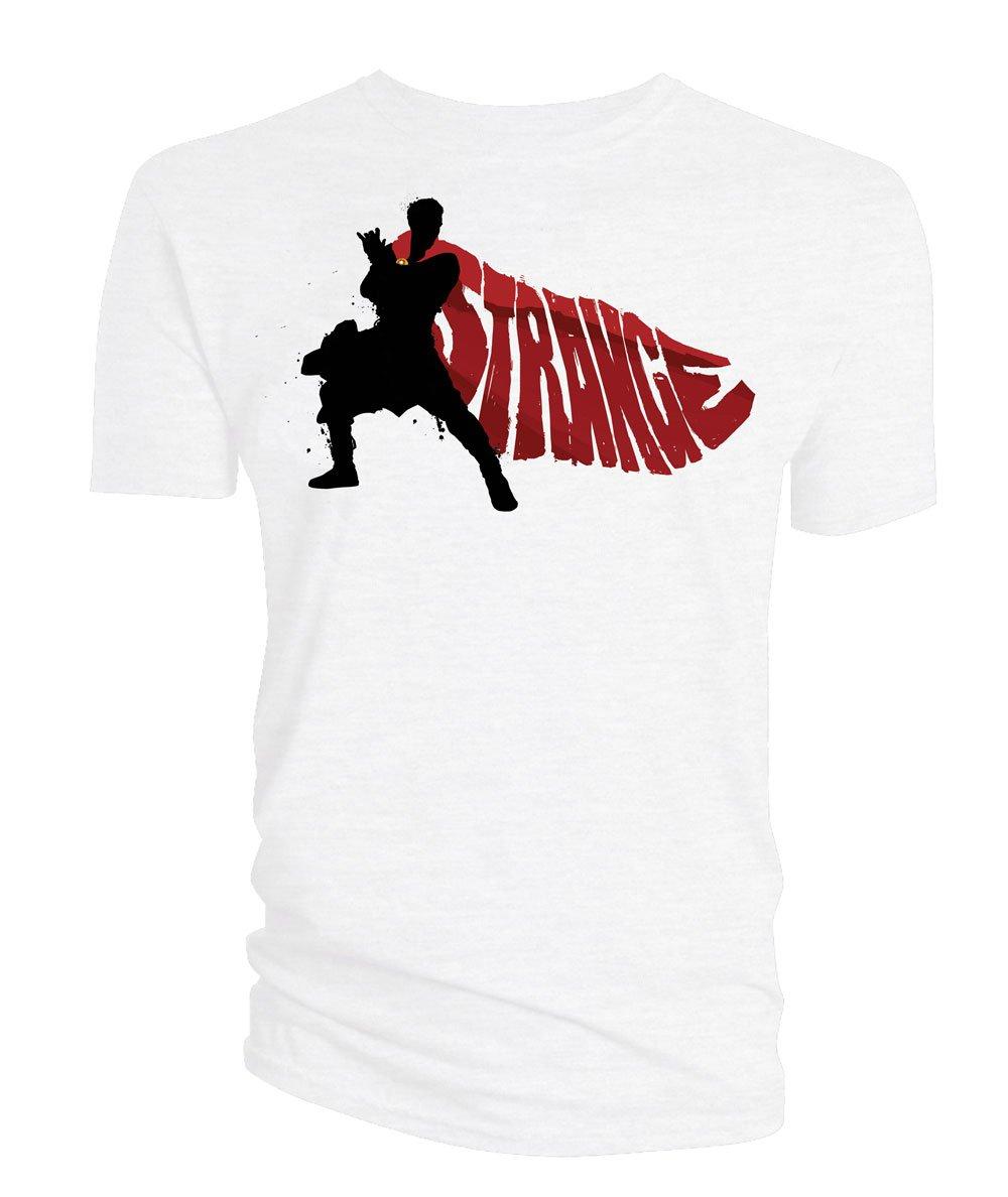 Doctor Strange T-Shirt Cape Vector white Size XL