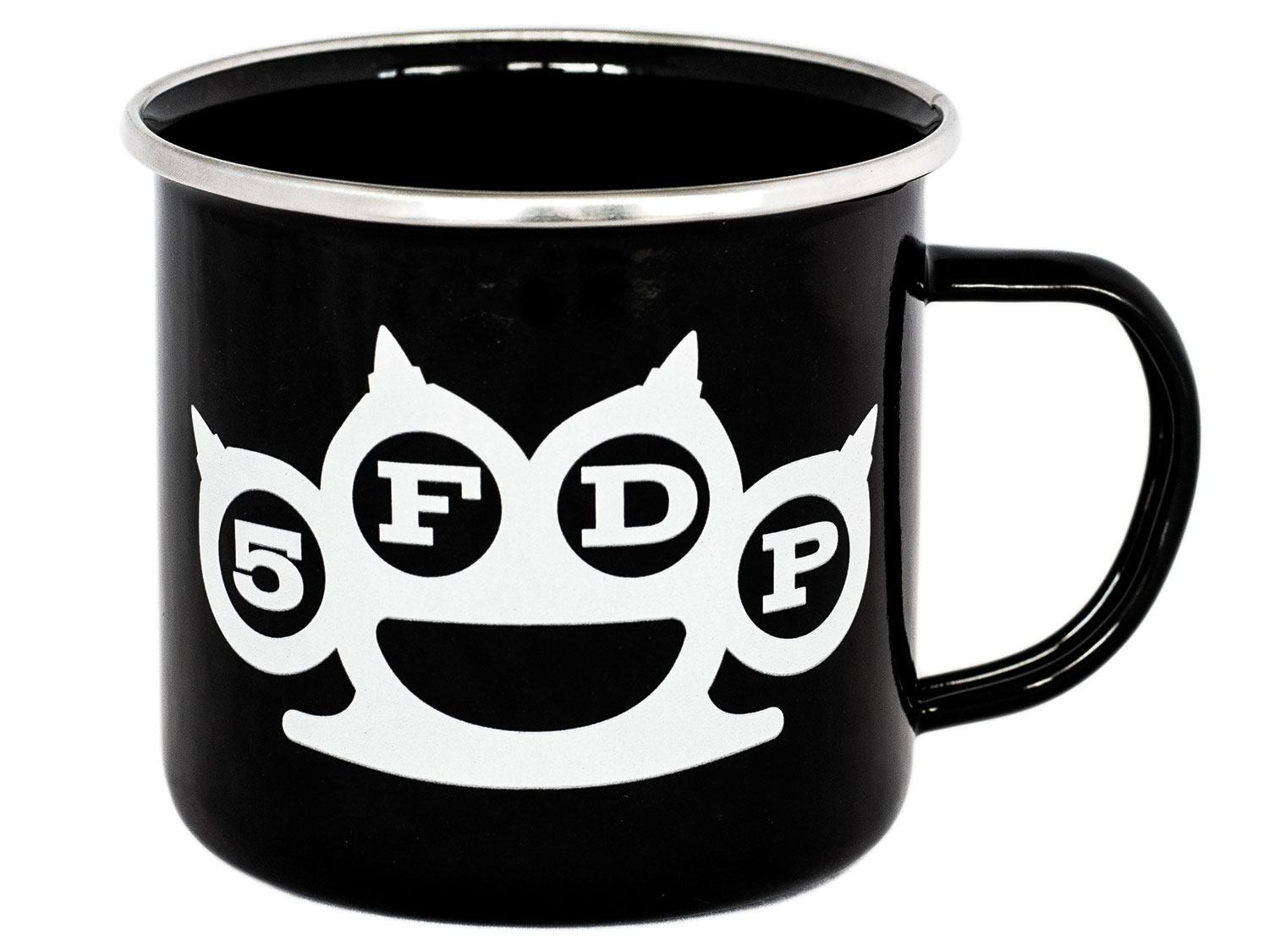 Five Finger Death Punch Enamel Mug Knuckle and Hand