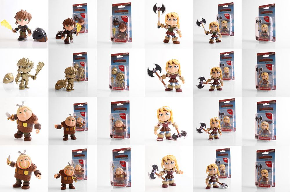 How to Train Your Dragon Action Vinyl Mini Figures 8 cm Humans 2 Display (12)