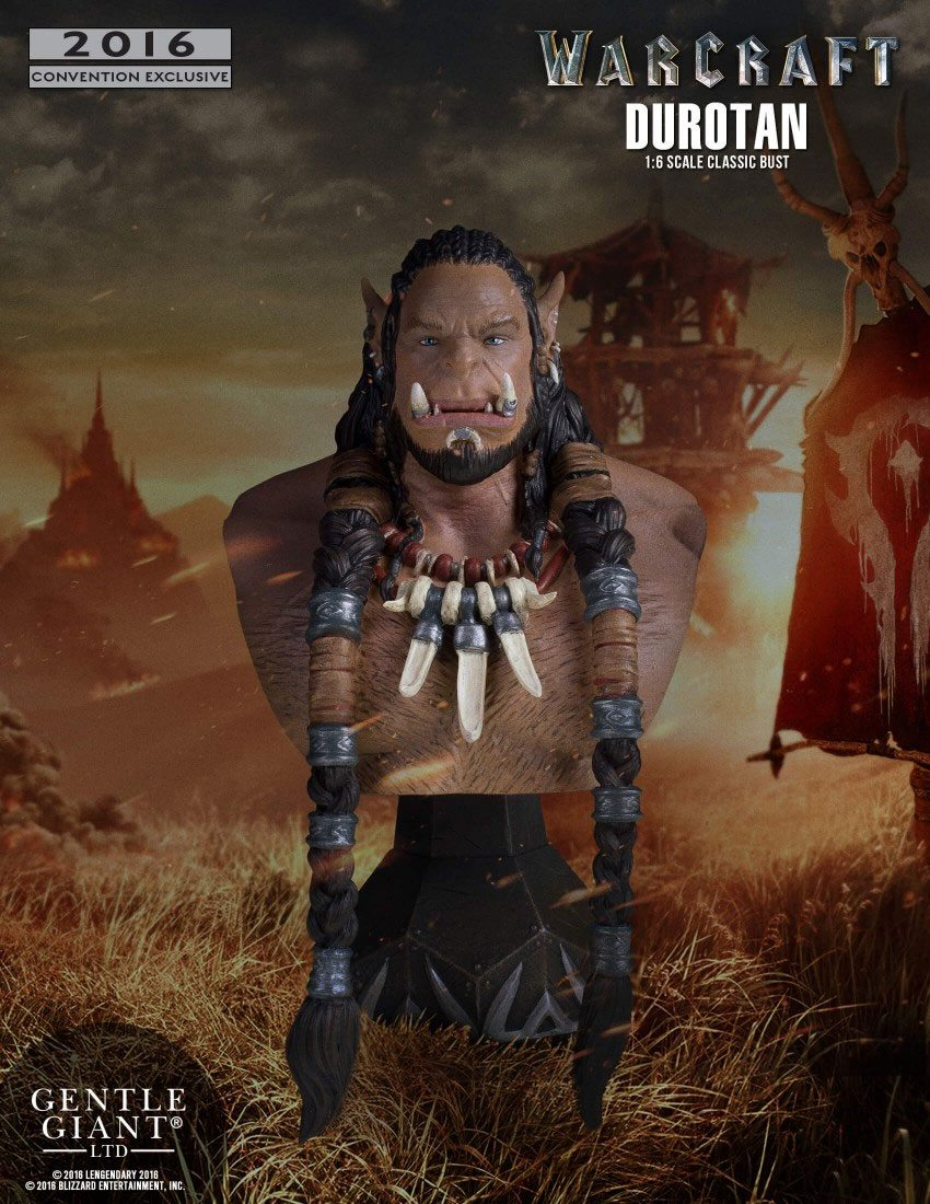 Warcraft The Beginning Bust 1/6 Durotan Classic SDCC 2016 18 cm