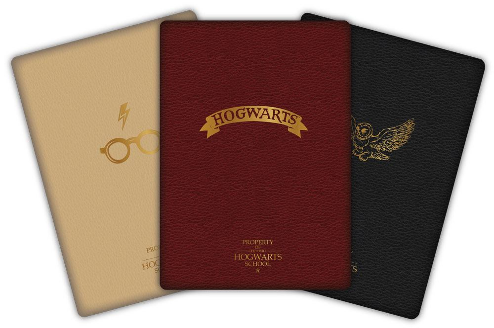 Harry Potter Notebook 3-Pack Hogwarts
