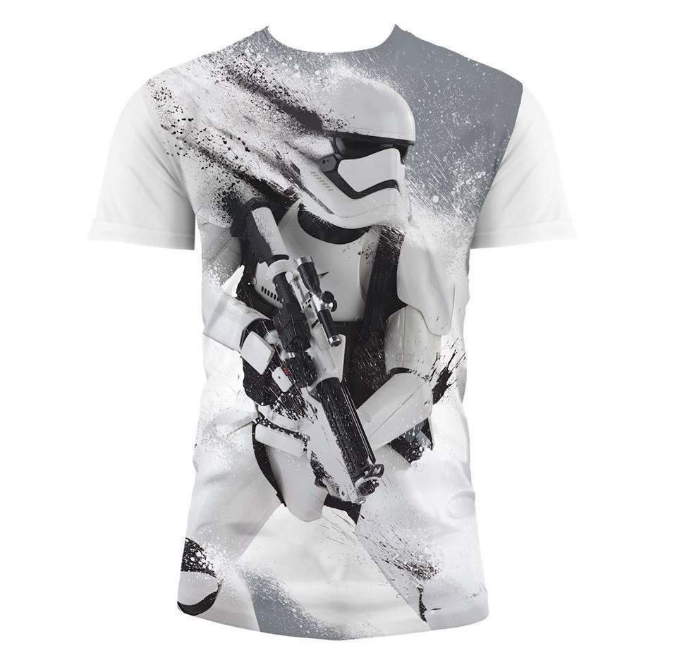Star Wars Episode VII T-Shirt Snowtrooper Snow Size XL