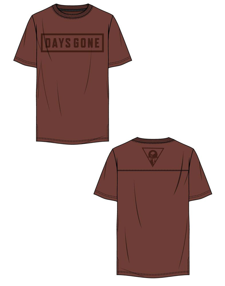 Days Gone T-Shirt Tonal Logo Size XL