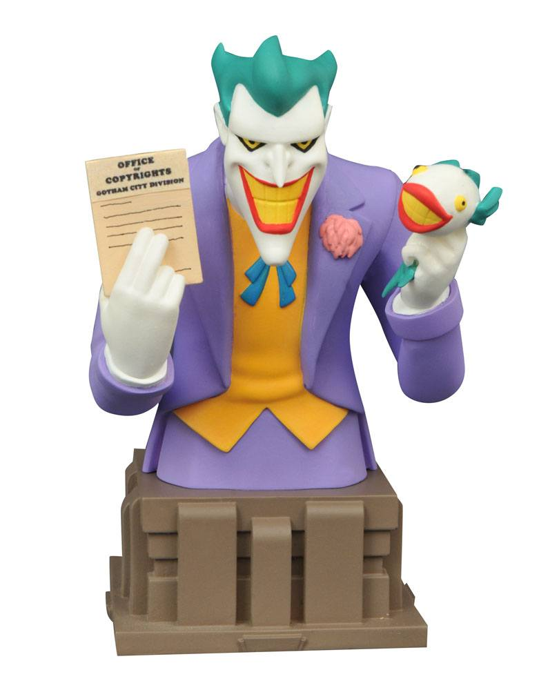 Batman The Animated Series Bust Laughing Fish Joker EE Exclusive 15 cm --- DAMAGED PACKAGING